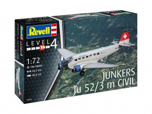NEW! Revell 04975 Junkers Ju 52/3 m Civil