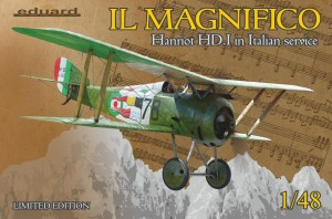 Eduard 11139 IL Magnifico Hanriot HD.I in Italian Service Limited Edition
