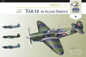 NEW! Arma Hobby 70029 Yakovlev Yak-1b in Allied Service