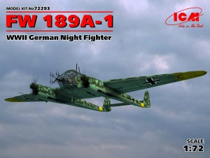 ICM 72293 FW 189A-1, WWII German Night Fighter
