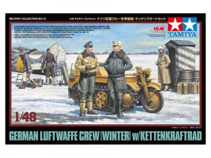Tamiya 32412 German Luftwaffe Crew (Winter) w/Kettenkraftrad