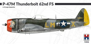 NEW! Hobby 2000 72046 P-47M Thunderbolt 62nd Fighter Squadron