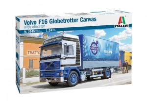 Italeri 3945 VOLVO F16 Globetrotter Canvas Truck with elevator