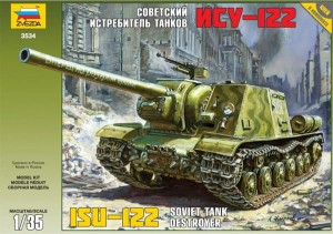 3534 ISU-122 Soviet self-propelled gun