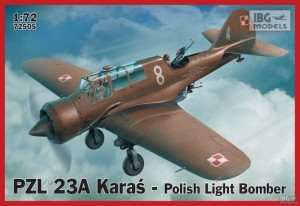 IBG 72505 1/72 PZL 23A Karaś Polish Light Bomber