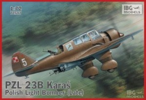 IBG 72507 1/72 PZL 23B Karaś Polish Light Bomber late