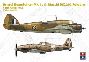 Hobby 2000 72005 Bristol Beaufighter Mk. Ic & Macchi MC.202 Folgore North Africa 1942