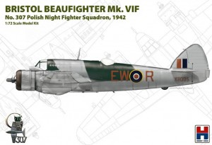 Hobby 2000 72003 Bristol Beaufighter Mk. VIF No. 307 Polish Night Fighter Squadron, 1942