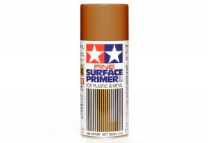 87160 Fine Surface Primer L for Plastic Metal (Oxide Red) Spray