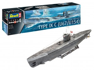 Revell 05166 German Submarine Type IX C (U67/U154)